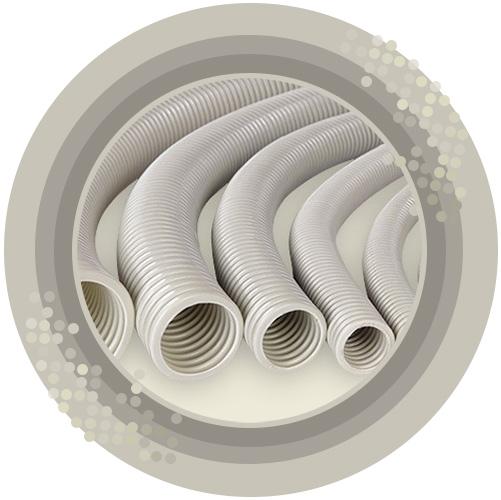 pvc borular ve bağlantı parçaları spiral elektrik boruları