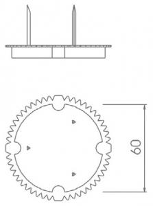 sıvaaltı 60 mm boru geçmeli tuğla duvar anahtar kasası kapağı teknik çizim