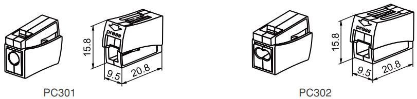 aydınlatma klemensleri teknik çizim