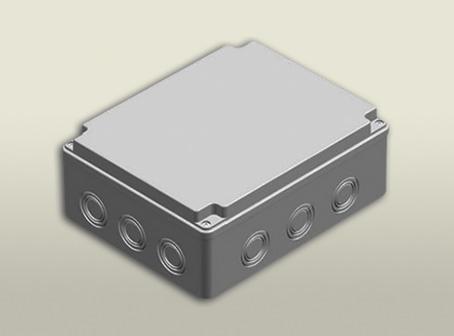 termoplastik buat 190 240 90 mm vidalı kapak