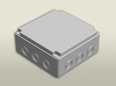 termoplastik buat 210 210 90 mm vidalı kapak