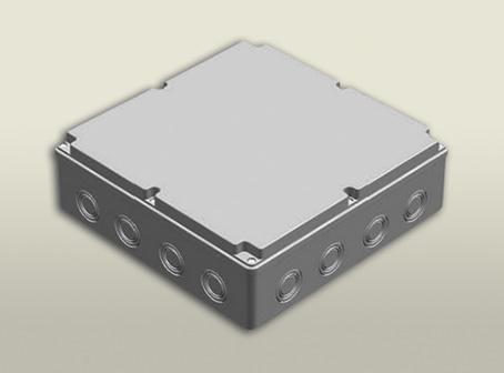 termoplastik buat 290 290 90 mm vidalı kapak